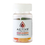 CBD Edibles-Gummies with Active CBD Oil 10 count 100mg CBD/bottle