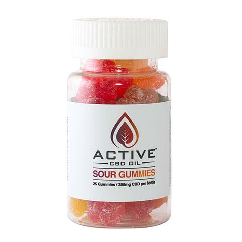 CBD Edibles-Gummies with Active CBD Oil 25 count 250mg CBD/bottle