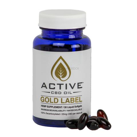 Active CBD oil capsules – 30ct – 750mg/Bottle
