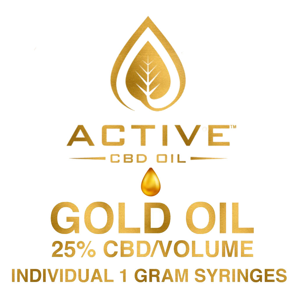 Gold Concentrated Active CBD Oil 25%