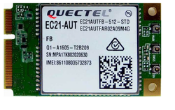 EC21AUT miniPCIE - Quectel 4G LTE Cat1 miniPCIE card - Telstra band