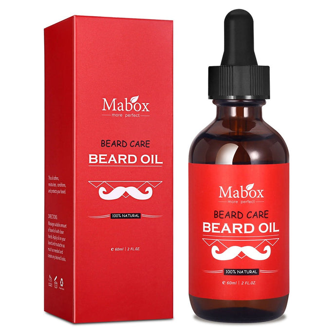 Mabox 60ml Natural Beard Oil Male's Mustache