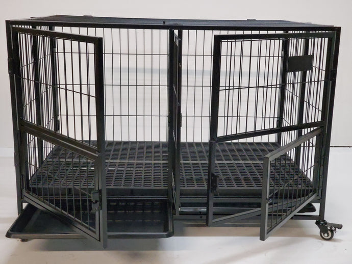 "LBEK 43"" Foldable Heavy Duty Dog Cage"