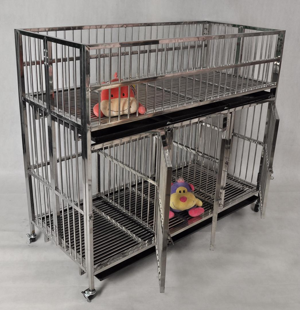 stainless steel collapsible dog kennel