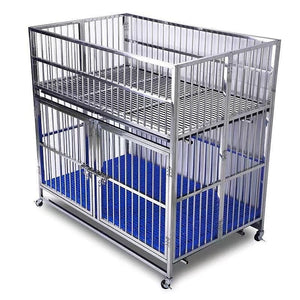 "51"" 2 Door Stainless Steel Collapsible Dog Show Cage With Removable Dividers ⚠️ FREIGHT RATE INCLUDED ‼️ITEM WILL BE SHIPPED TO LOCAL FREIGHT FACILITY FOR PICKUP❗CONTACT VIA EMAIL OR TEXT (336) 404-7154 FOR EXACT HOME DELIVERY PRICE"