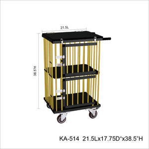 2 BIRTH GROOMING/STACKING TROLLY