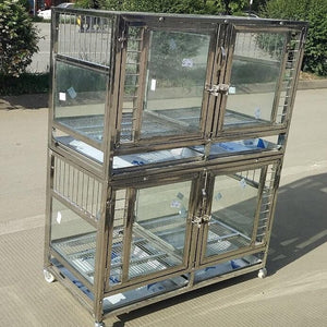 "47"" stackable plexiglass stainless steel"