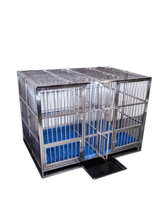 "💥NEW DESIGN💥 55"" Stainless Steel 2 Door Foldable Cage ⚠️ FREIGHT RATE INCLUDED TO YOUR LOCAL FACILITY FOR PICKUP OR BUSINESS ❗CONTACT (336) 404-7154 FOR HOME DELIVERY INQUIRIES"
