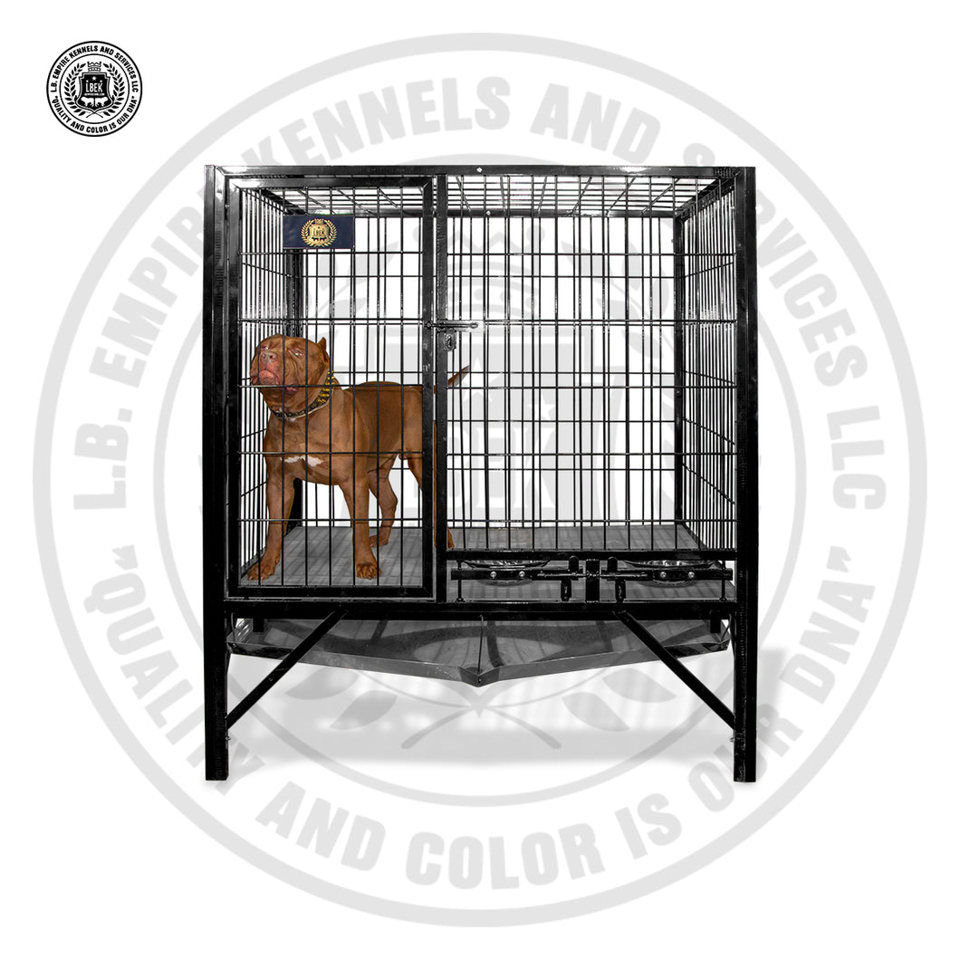 5'×4' Large Kennel Single Door Heavy Duty With Upgraded Floors and Waste Tray