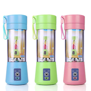 Portable USB Rechargeable Blender, Mixer, Smoothie Juice Maker Machine 380ml - Pink