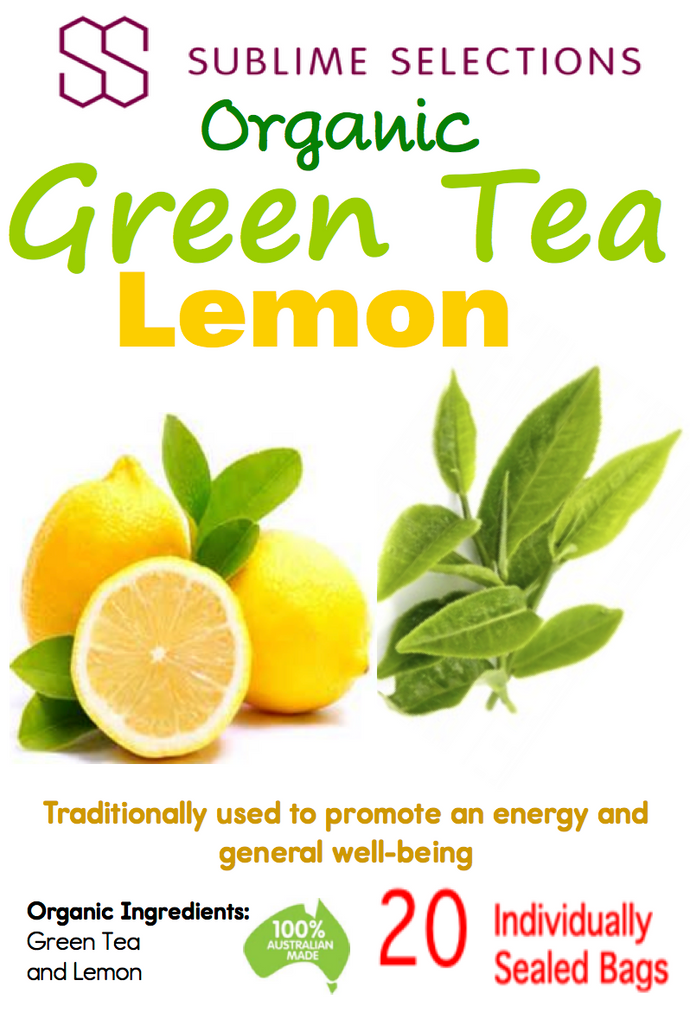 Green Tea Lemon - Tea Bag