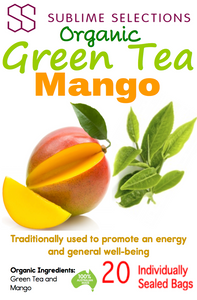 Green Tea Mango - Tea Bag