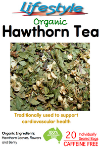 Hawthorn Leaves, Flowers and Berry - Tea Bag