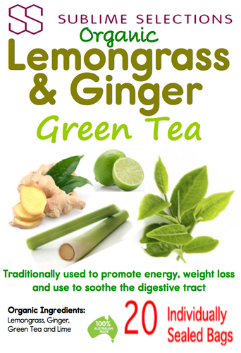Lemongrass & Ginger Green Tea  - Tea Bag