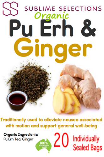 PuErh & Ginger Tea - Tea Bag