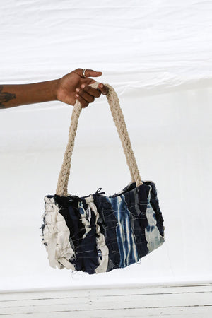 CZ Denim Crush Shoulder Bag