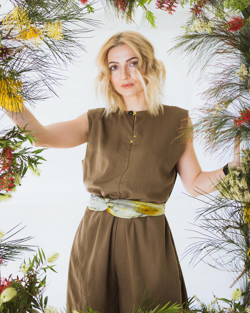 Frolic Jumpsuit in Safari