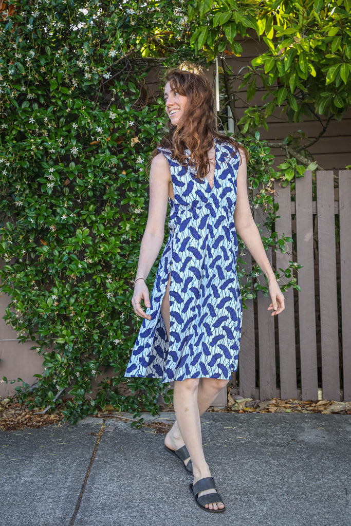 Shenanigan Dress in Navy Fern