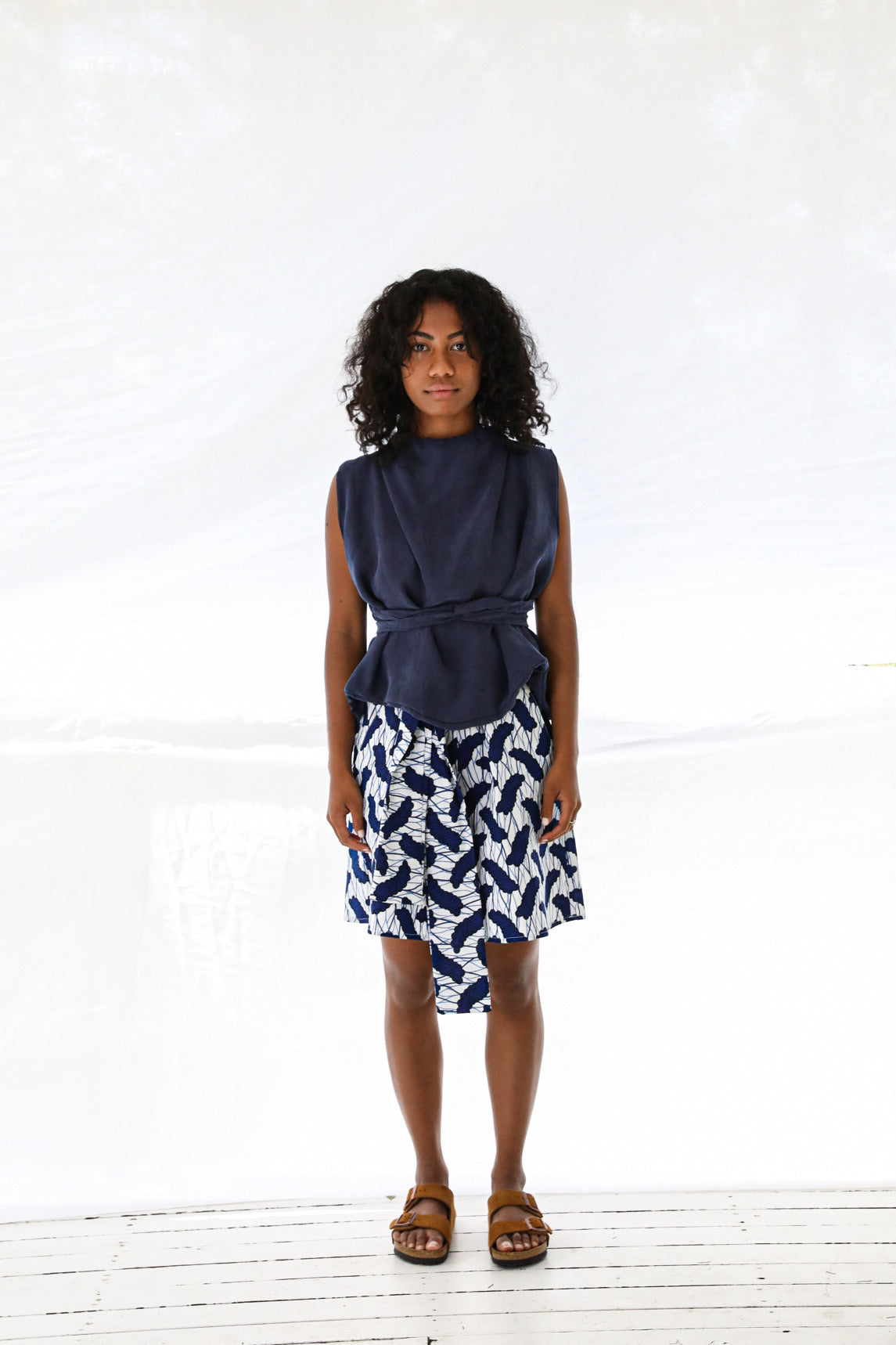 Outset Top in Navy