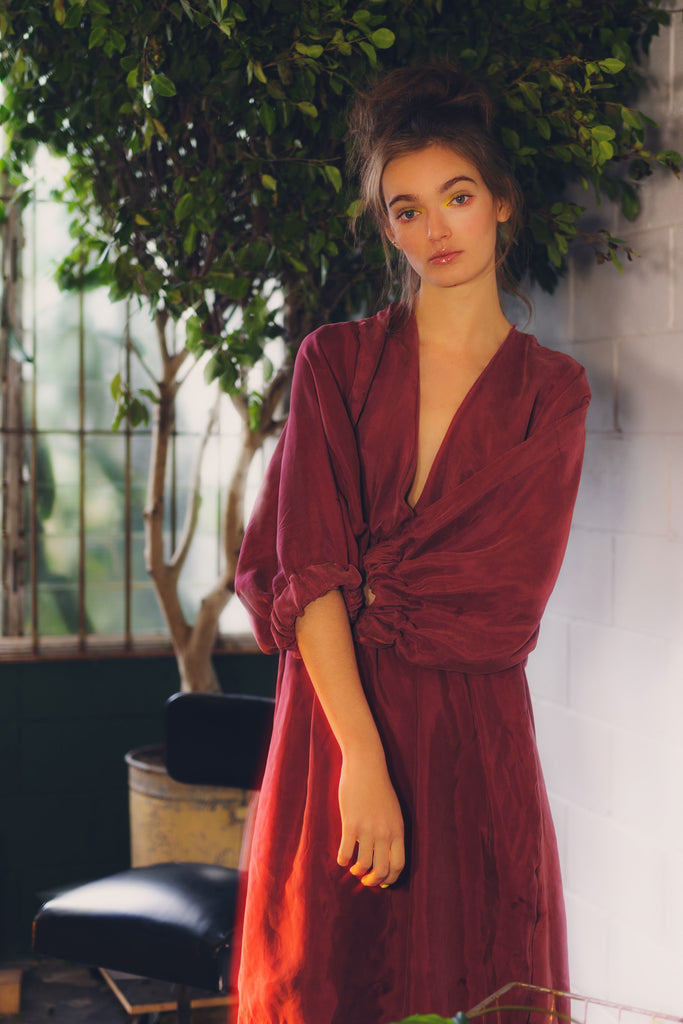 Genesis Dress in Wild Plum