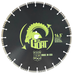"The G.O.A.T 16.5"" Alternating Turbo Segment Diamond Blade"
