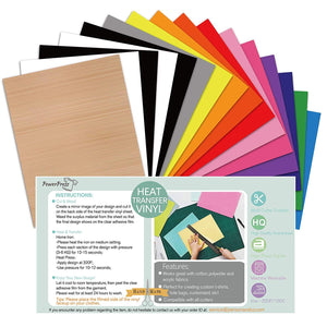 "12"" x 10"" Heat Transfer Vinyl Bundle 16 Pack"