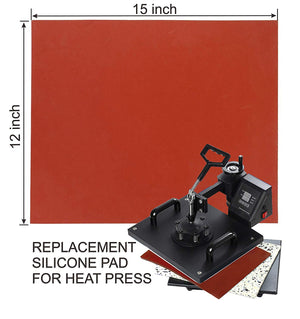 "12"" x 15"" Silicone Pad for Heat Press"