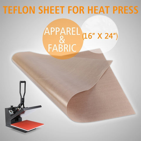 16X24 TEFLON GLASS FABRIC SHEET HEAT TRANSFER PRESS
