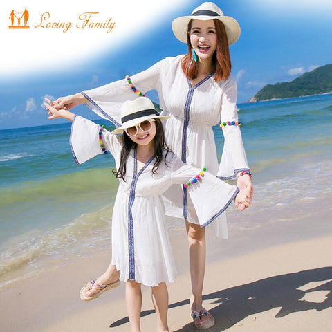 f0277b583b8c1 Mother Daughter Dresses Family Matching Outfits 2018 Summer Family Clothing  mommy and me clothes family look girl and mother