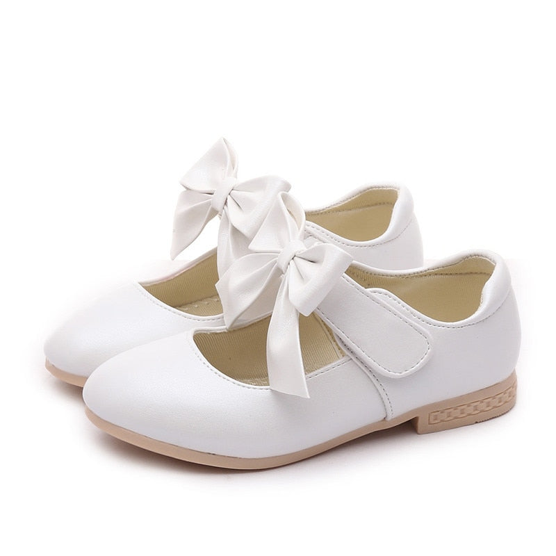 ... COZULMA Baby Girls Leather Shoes Princess Mary Jane Bow Flower Dress  Shoes Children Casual Shoes Kids 0da8e6885683