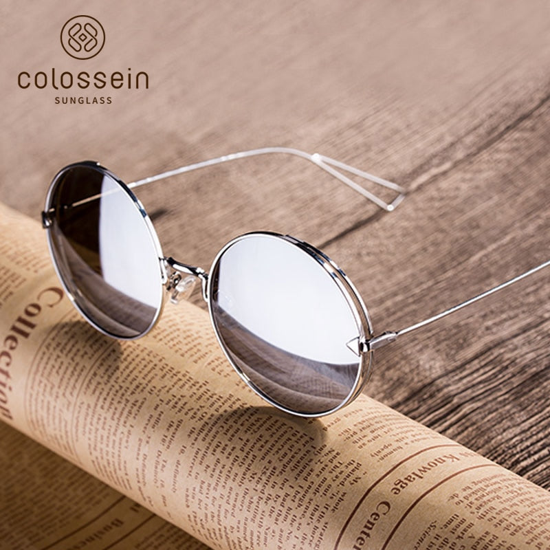 f2311ae9a5 ... COLOSSEIN Fashion Brand Vintage Classic Women Sunglasses Square Metal  Frame Mirror New Lenses Elegant Beauty Glasses