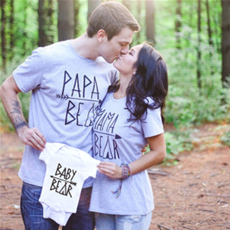 2269092fa 1PC Mother Dad And Son Matching clothes Papa Baby Mama Bear Family Look Hot Sale  Baby Boy Summer Clothes Mom Daughter Clothes
