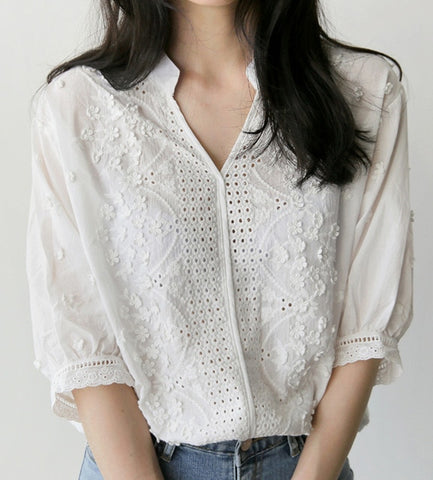 Women's Clothing Reasonable 2018 New Fashion Women Blouse Casual Flare Sleeve Lace Patchwork Chiffon Shirt Lace Crochet Top Tunic Blusas Mujer