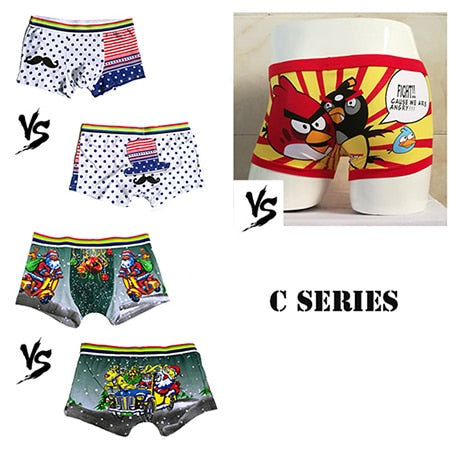 8997cc09f7386 3Pcs lot 2018 Boxer men sexy cotton Underwear cartoon youth duck Hombre  Mouse Boy Underpants ...