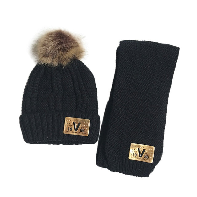 46f5e7af51c ARLONEET Hat baby 2Pcs Warm Set Cute Hat Scarf Baby Girls Boys Acrylic  fibres Winter Cute Cool Fashionable Hats With Scarf