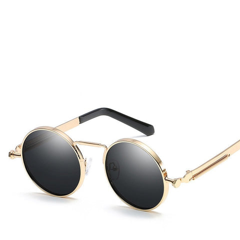 e2a50dc799 2019 Vintage Steampunk Sunglasses Men Brand Designer Classic Round Sun Glasses  For Men Male Sunglasses Mirror