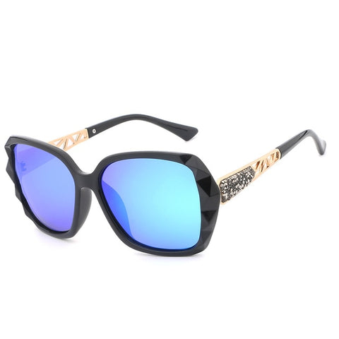 337b9e9177 HDCRAFTER 2018 Luxury Brand Design Rhinestone Polarized Sunglasses Women  Lady Elegant Big Sun Glasses Female Eyewear