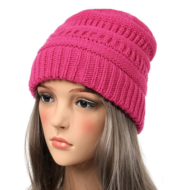 e45abf2db2e Drop Shipping 2018 Seal Beanies Winter Hats for Women Knitted Hat With Tag  Warm Baggy Stretch ...