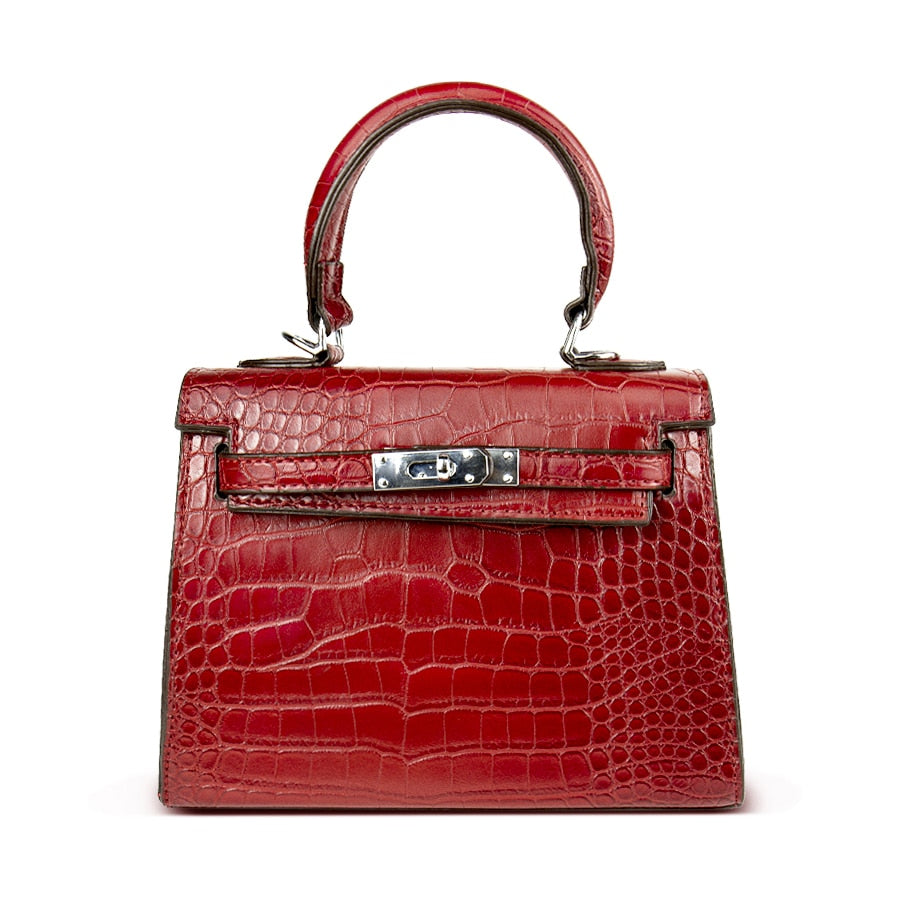 ... DUSUN Women s Bag Alligator Bags Anti-Theft Luxury Handbags High  Quality Crocodile Designer Shoulder Female c5a156ab2d0b6