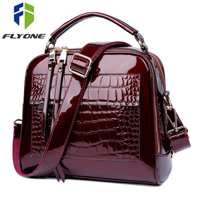... Luxury Handbags Women Bags Designer Crossbody Bags for Women Shoulder  Bag Crocodile Leather Purse Bolsa Feminina 2a6be5d505ffc
