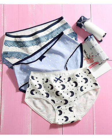 e9361c70ee9 2019 New 5pcs lot Women Panties Cotton Underwear Cute Printed Intimate Plus  Size Briefs Breathable
