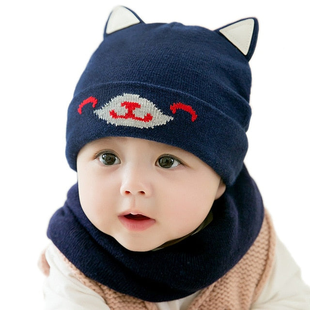 44c5f2ca949 LONSANT Toddler Baby Girls Boys Hat Cap With Scarf For Winter Warm Crochet  Knit 3D Ears ...