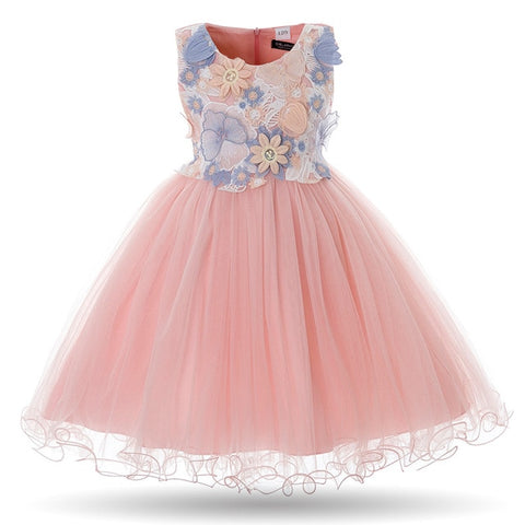 44b0d0020ba Cielarko Kids Girls Flower Dress Baby Girl Butterfly Birthday Party Dresses  Children Princess Fancy Ball Gown