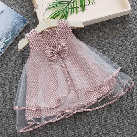 c84cf0dd62c9b MUQGEW Toddler Kids Baby Girls Clothes Plaid Sleeveless Bowknot Princess  Party Birthday Dresses Summer Kids Outfits Clothes