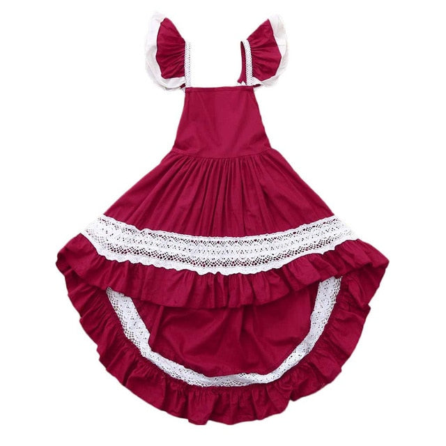 d17167851197 Floral Baby Girl Princess dress Bridesmaid Pageant Gown kids dresses for  girls Birthday Party Wedding Dress ...