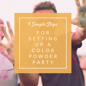 4 Simple Steps for Setting Up a Color Powder Party