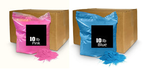 gender reveal powder holi colored chalk cornstarch
