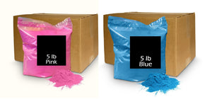 gender reveal powder pink blue color powder