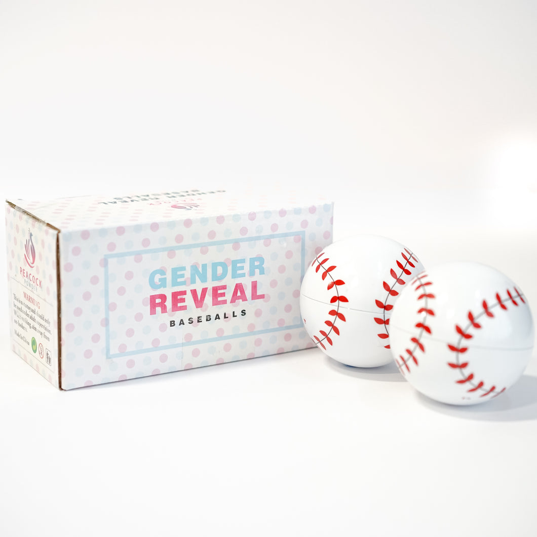 gender reveal baseball powder kit blue pink boy girl