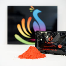Orange holi color powder
